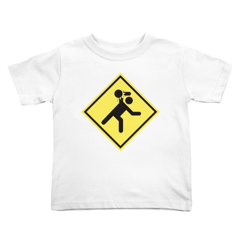 Dodgeball Caution Kids Toddler T-Shirt by Make2wo Artist Shop