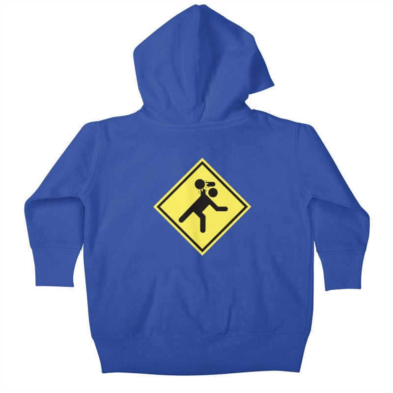 Dodgeball Caution Kids Baby Zip-Up Hoody by Make2wo Artist Shop