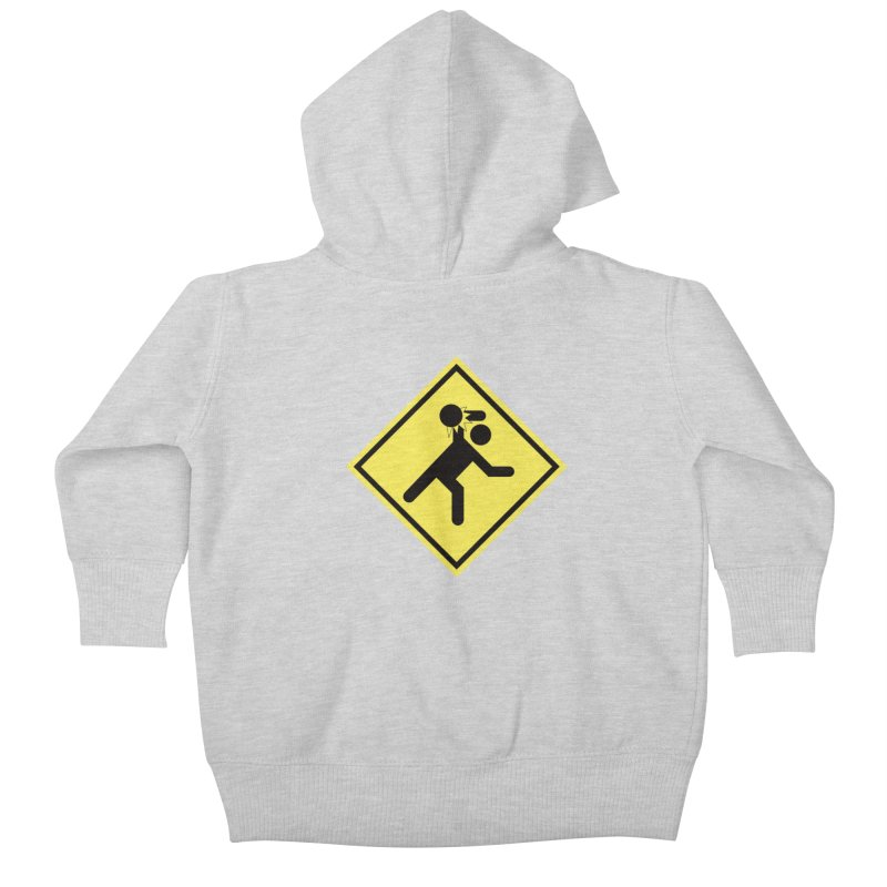 Dodgeball Caution Kids Baby Zip-Up Hoody by Make2wo Artist Shop