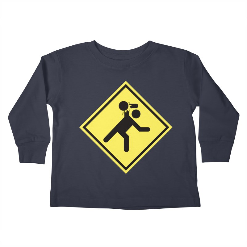 Dodgeball Caution Kids Toddler Longsleeve T-Shirt by Make2wo Artist Shop