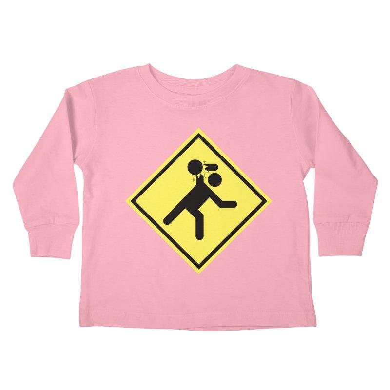 Dodgeball Caution Kids Toddler Longsleeve T-Shirt by Make2wo Artist Shop