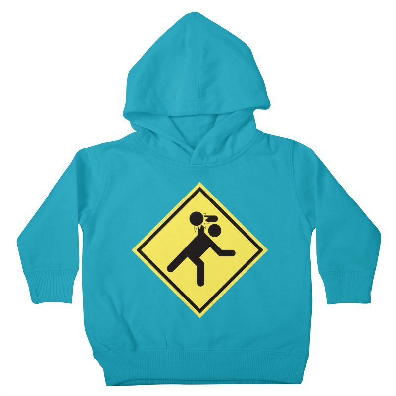 Dodgeball Caution Kids Toddler Pullover Hoody by Make2wo Artist Shop