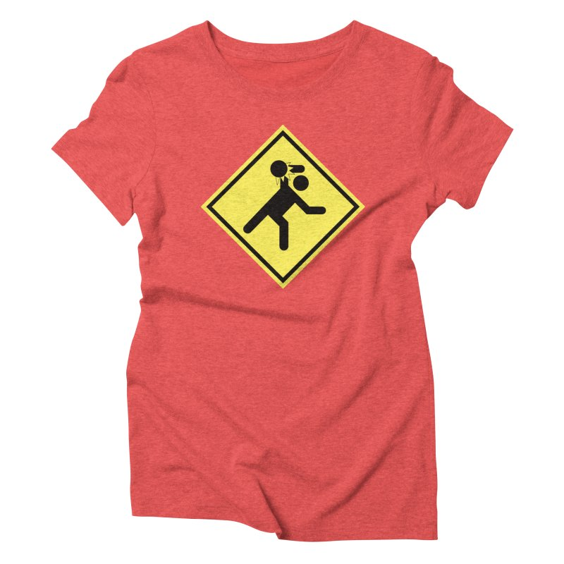 Dodgeball Caution Women's Triblend T-shirt by Make2wo Artist Shop