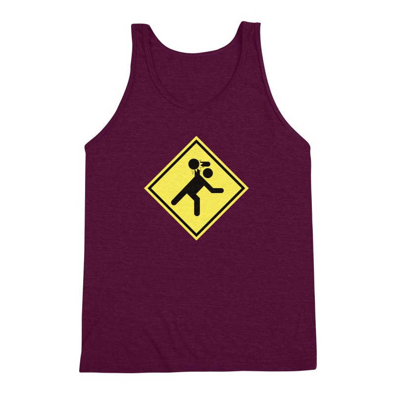 Dodgeball Caution Men's Triblend Tank by Make2wo Artist Shop