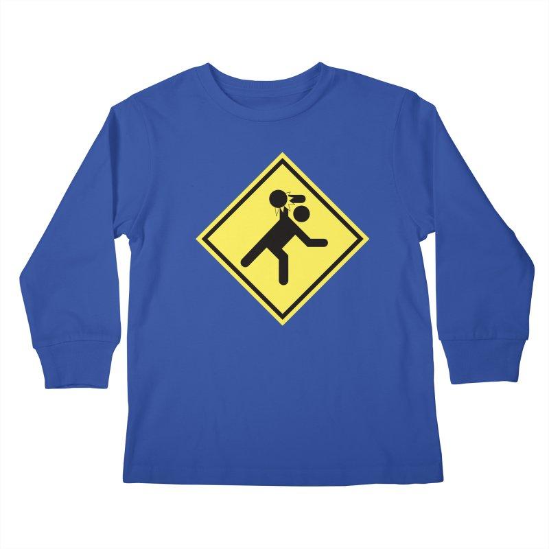 Dodgeball Caution Kids Longsleeve T-Shirt by Make2wo Artist Shop