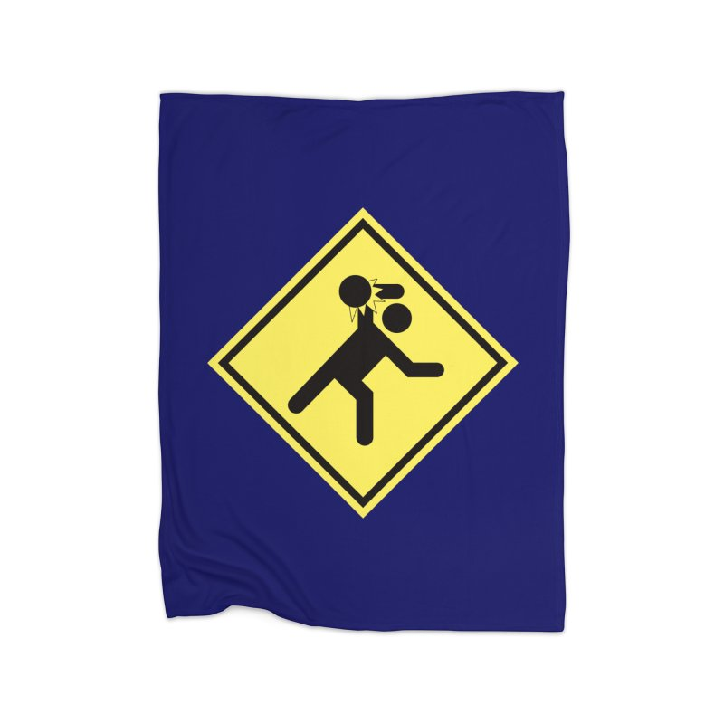Dodgeball Caution Home Blanket by Make2wo Artist Shop