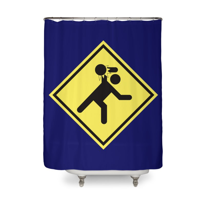Dodgeball Caution Home Shower Curtain by Make2wo Artist Shop