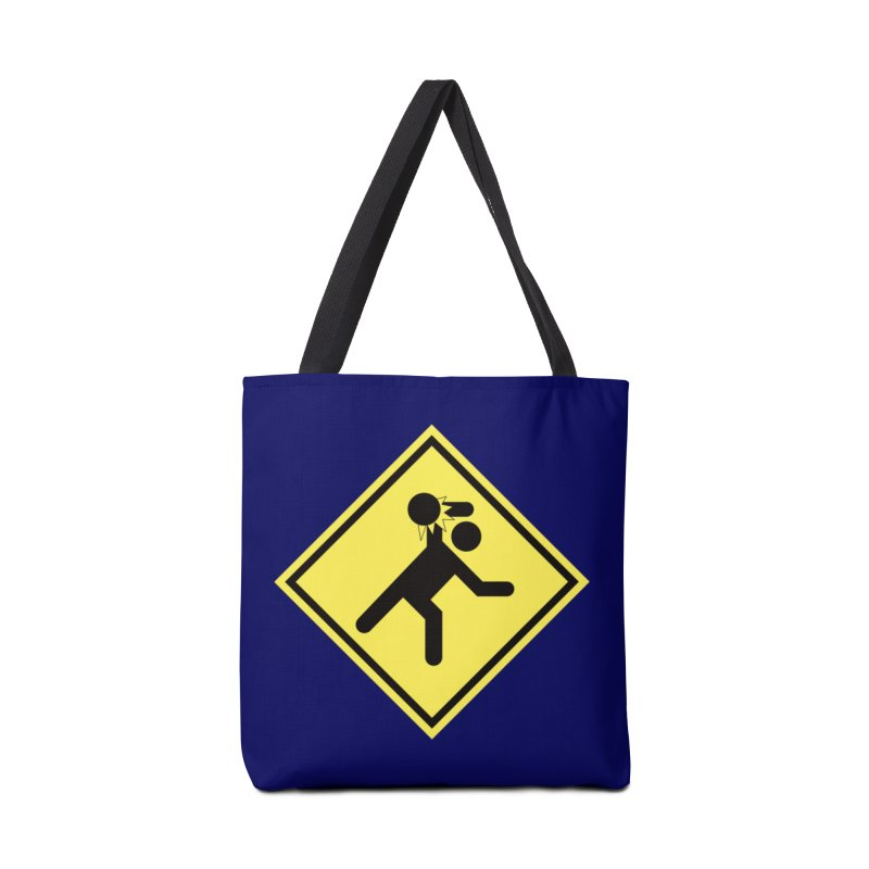 Dodgeball Caution Accessories Bag by Make2wo Artist Shop