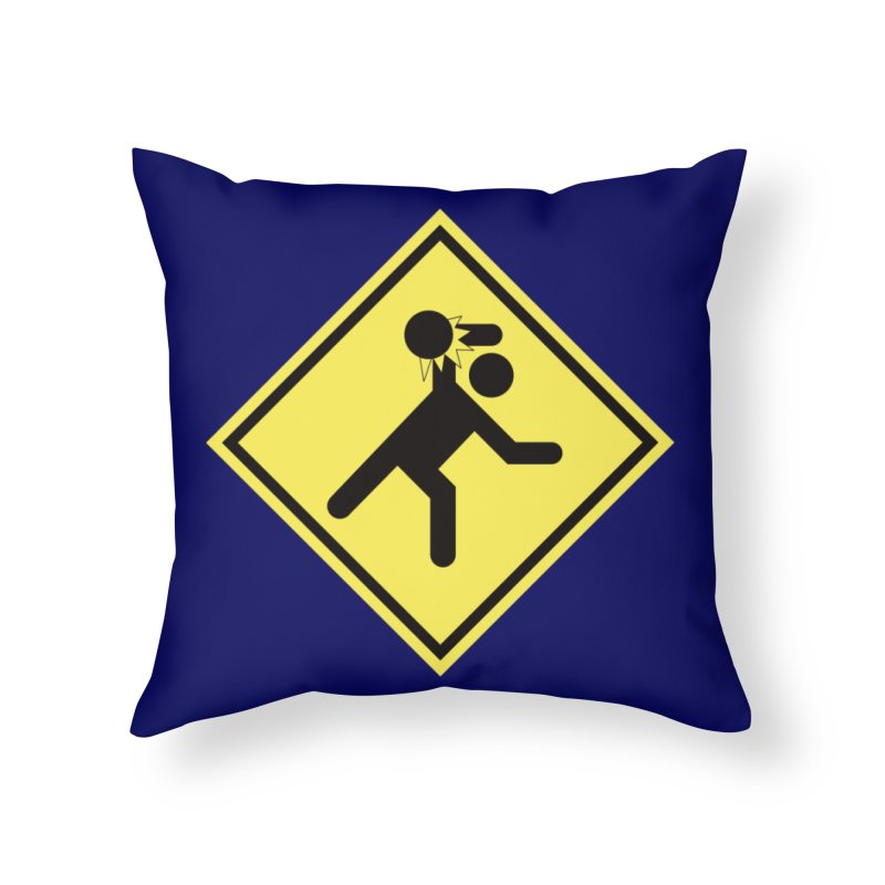 Dodgeball Caution Home Throw Pillow by Make2wo Artist Shop