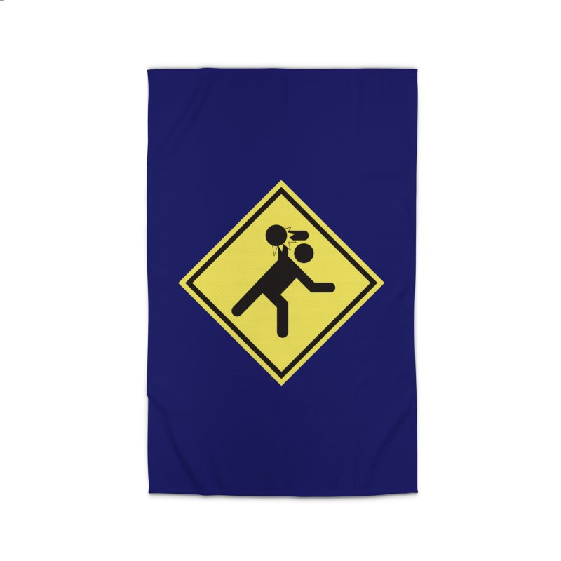 Dodgeball Caution Home Rug by Make2wo Artist Shop