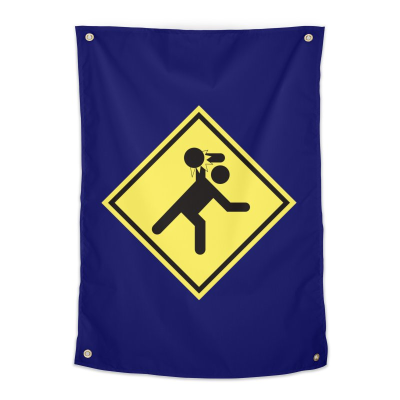 Dodgeball Caution Home Tapestry by Make2wo Artist Shop