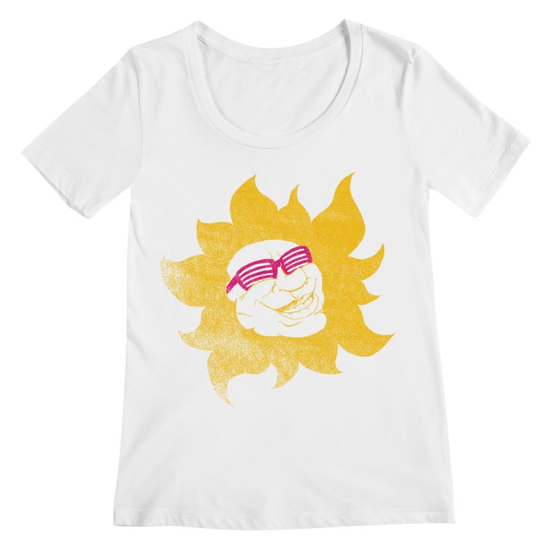 Sun Shutter Women's Scoopneck by Make2wo Artist Shop