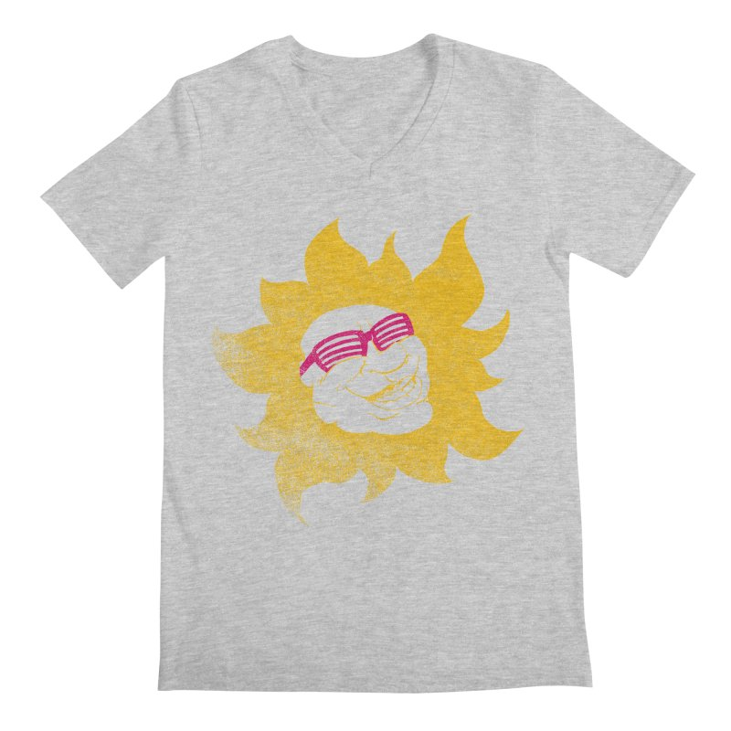 Sun Shutter Men's Regular V-Neck by Make2wo Artist Shop
