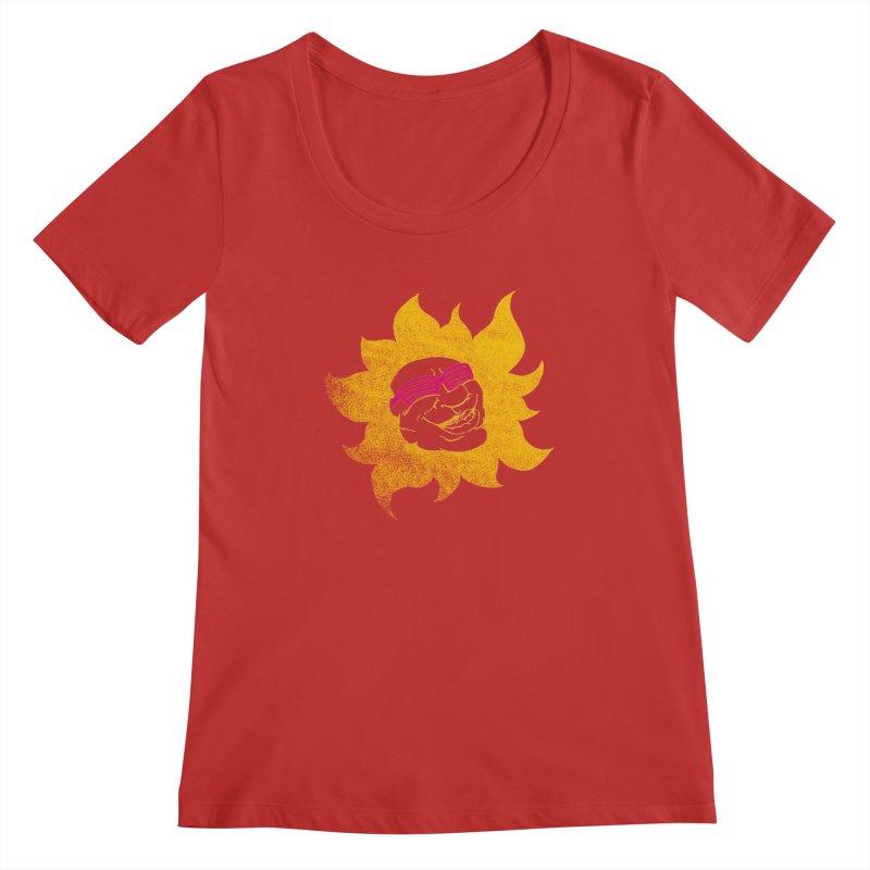 Sun Shutter Women's Scoopneck by Make2wo Artist Shop