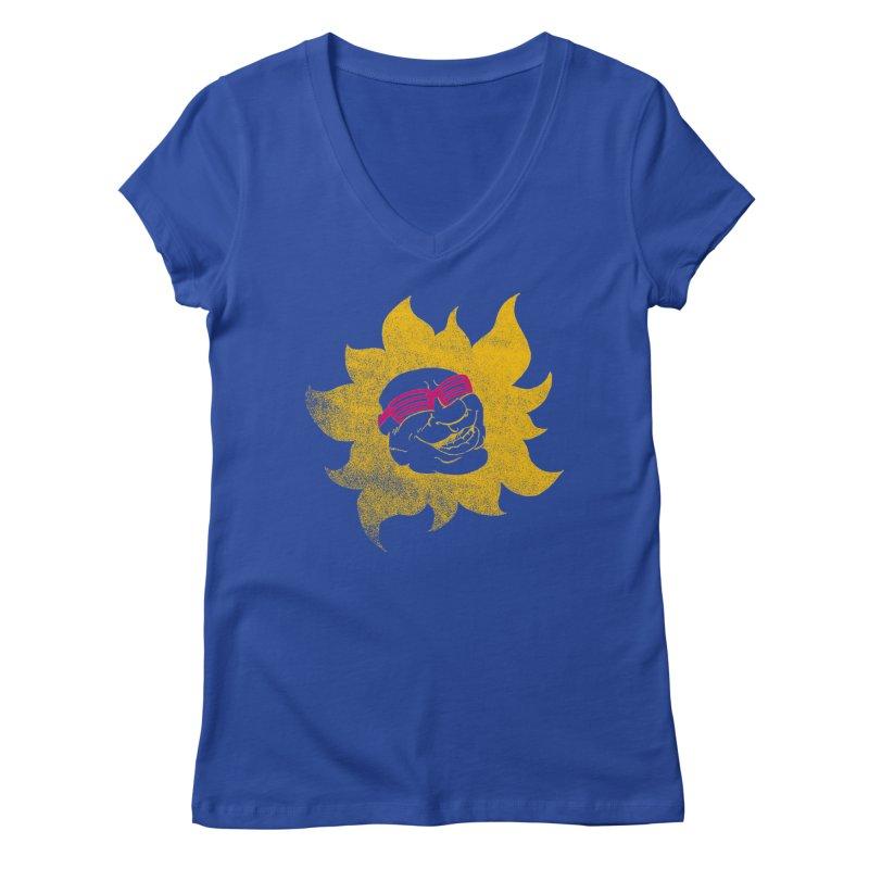 Sun Shutter Women's V-Neck by Make2wo Artist Shop