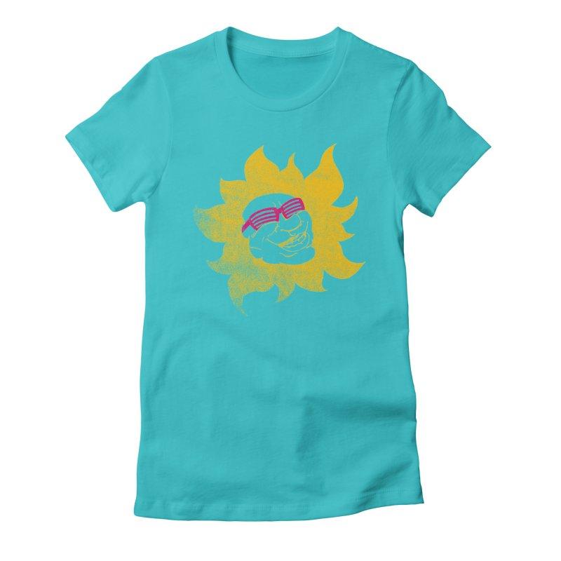 Sun Shutter Women's Fitted T-Shirt by Make2wo Artist Shop
