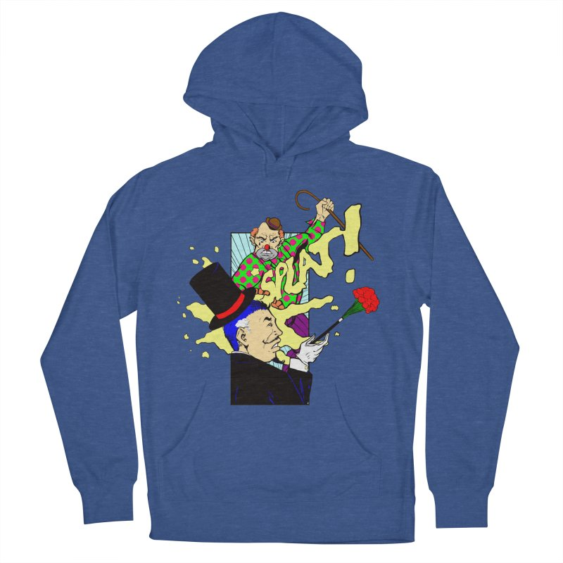 Hobo Clown v. Fancy Magician Men's French Terry Pullover Hoody by Make2wo Artist Shop