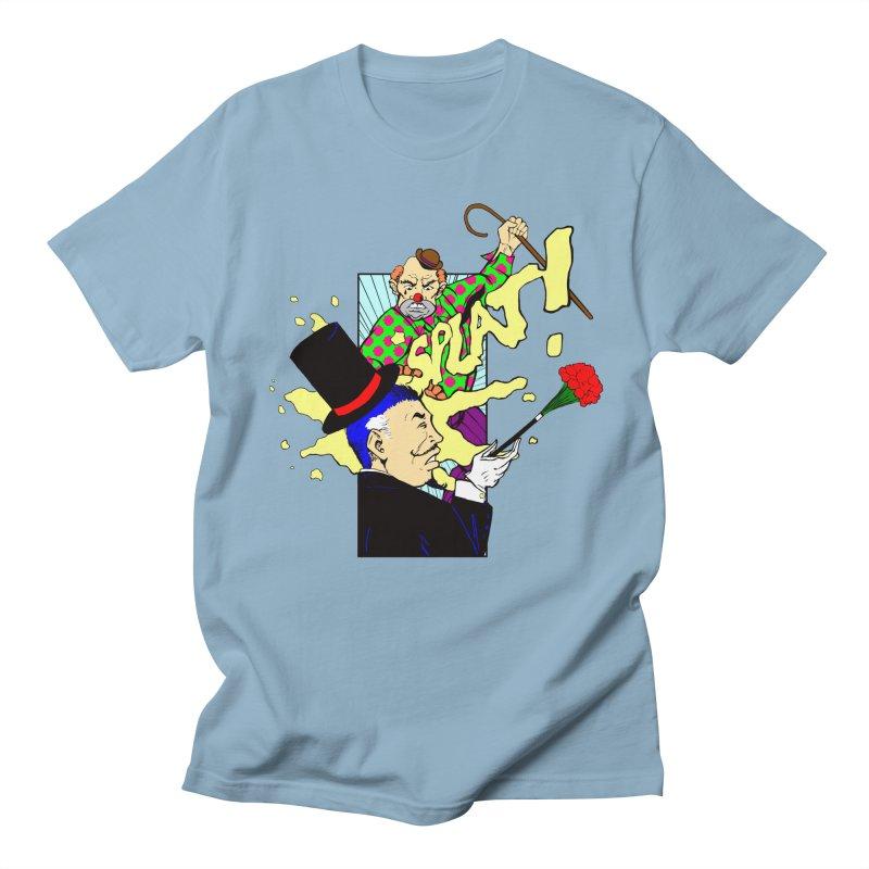 Hobo Clown v. Fancy Magician Men's T-shirt by Make2wo Artist Shop