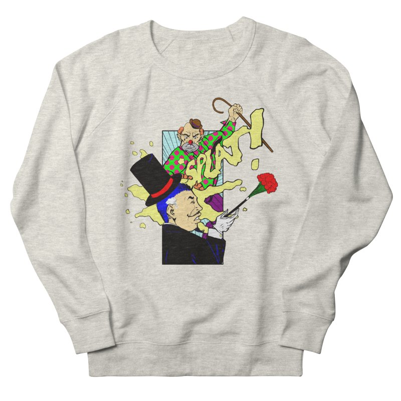 Hobo Clown v. Fancy Magician Women's French Terry Sweatshirt by Make2wo Artist Shop