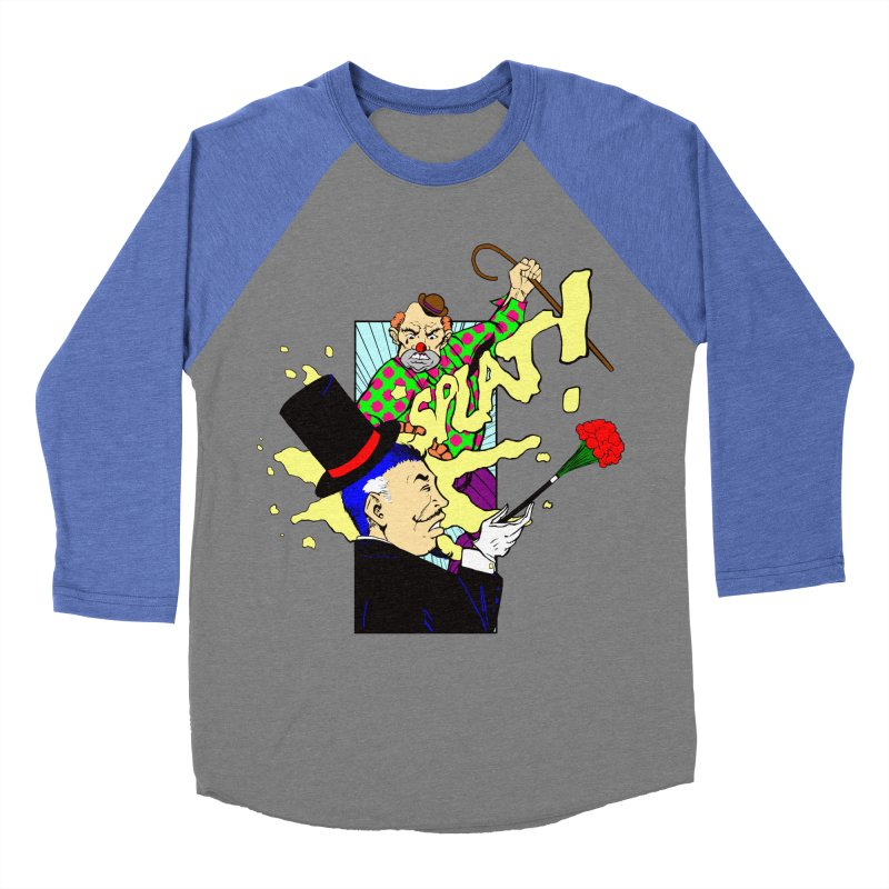 Hobo Clown v. Fancy Magician Women's Baseball Triblend T-Shirt by Make2wo Artist Shop