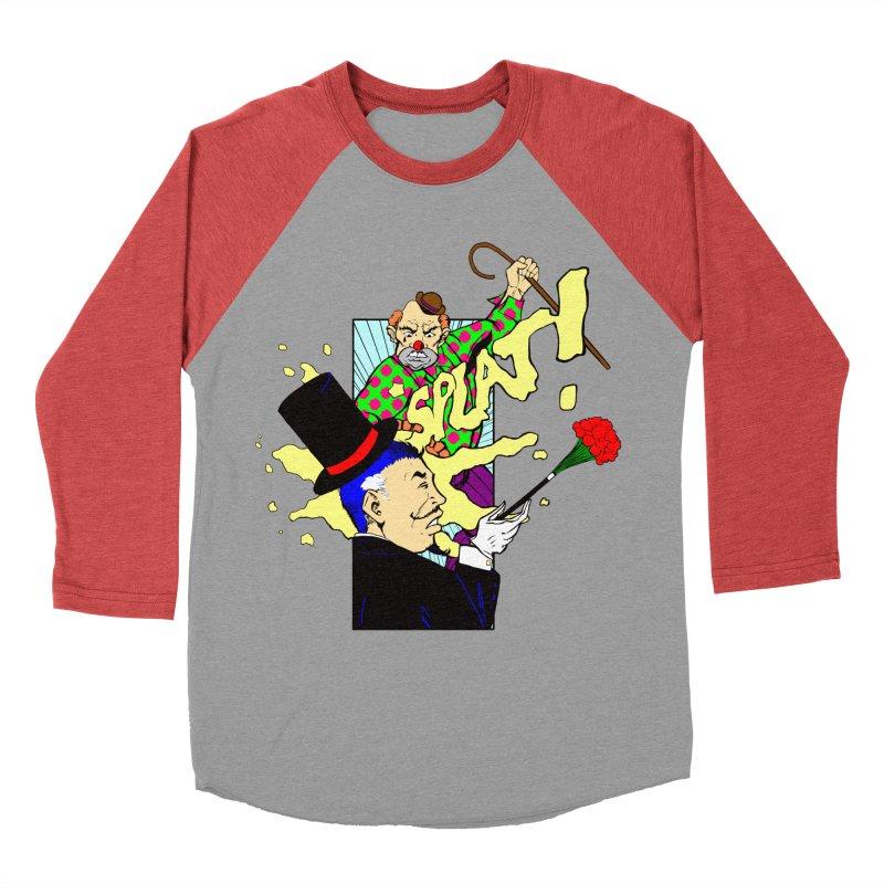 Hobo Clown v. Fancy Magician Men's Baseball Triblend T-Shirt by Make2wo Artist Shop