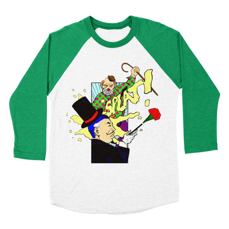 Hobo Clown v. Fancy Magician Men's Baseball Triblend T-Shirt by Make2wo Artist Shop