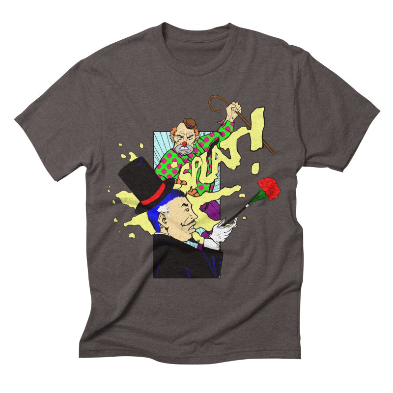 Hobo Clown v. Fancy Magician Men's Triblend T-shirt by Make2wo Artist Shop