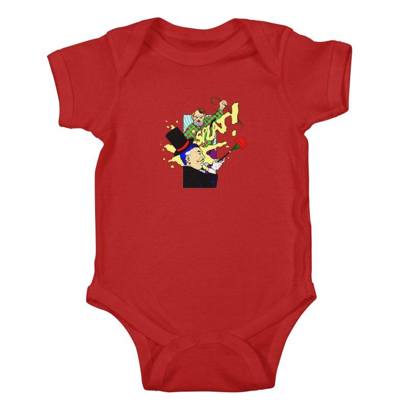 Hobo Clown v. Fancy Magician Kids Baby Bodysuit by Make2wo Artist Shop