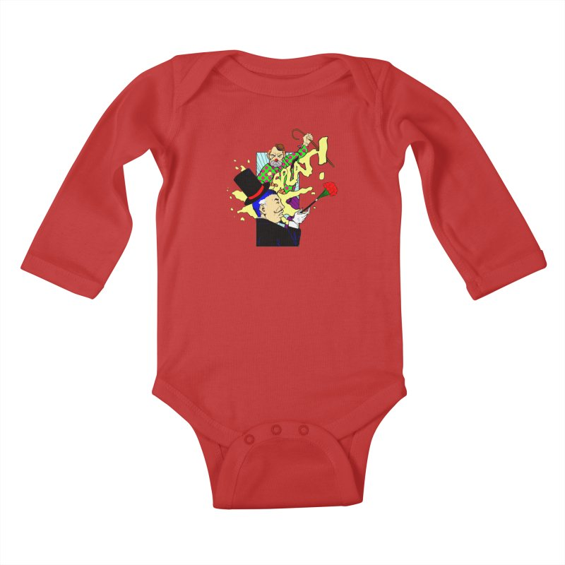 Hobo Clown v. Fancy Magician Kids Baby Longsleeve Bodysuit by Make2wo Artist Shop