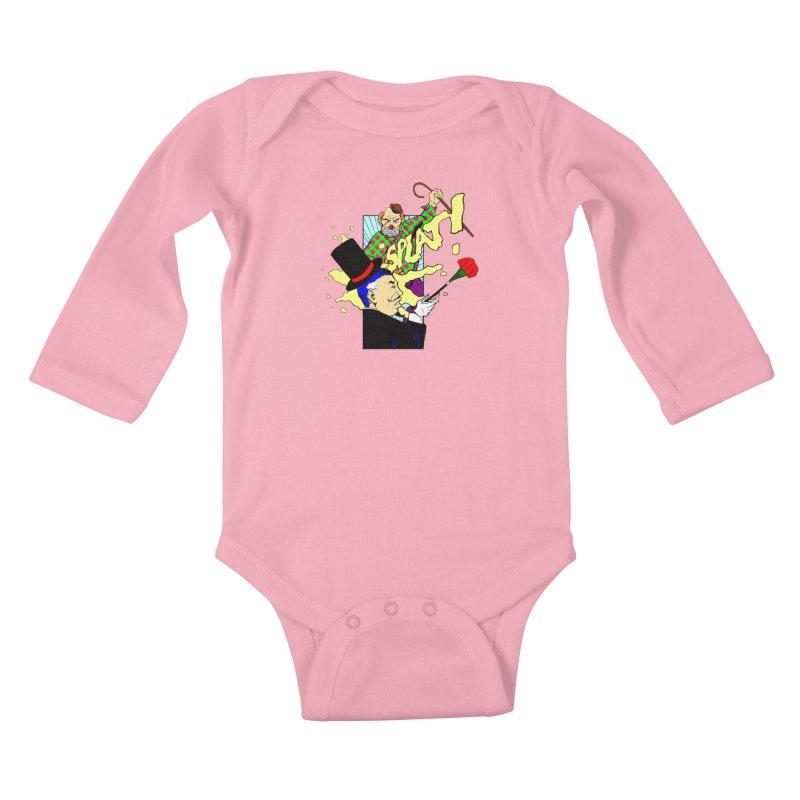Hobo Clown v. Fancy Magician Kids Baby Longsleeve Bodysuit by Make2wo Artist Shop