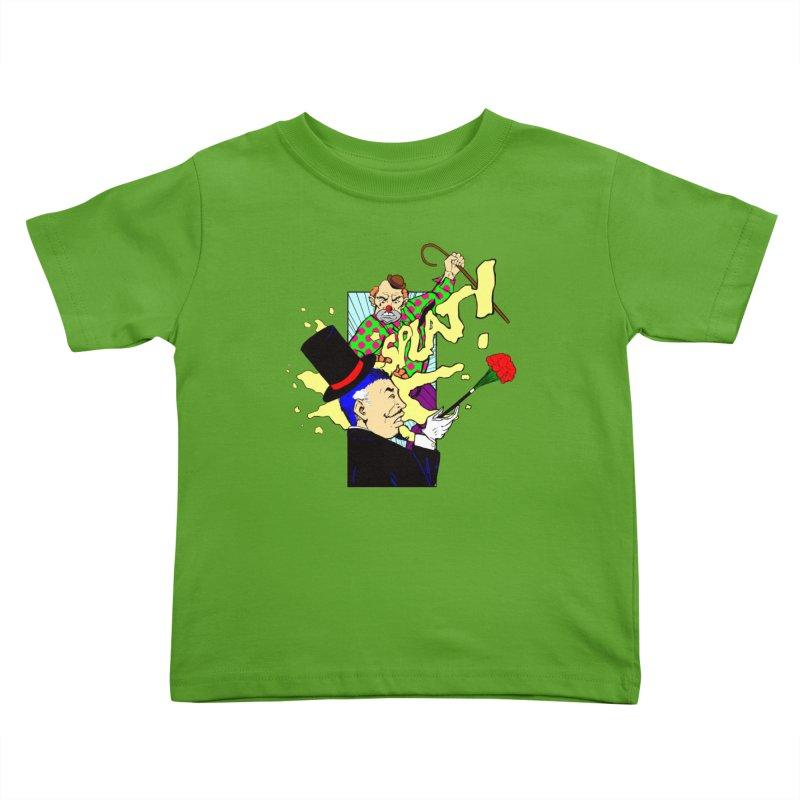 Hobo Clown v. Fancy Magician Kids Toddler T-Shirt by Make2wo Artist Shop