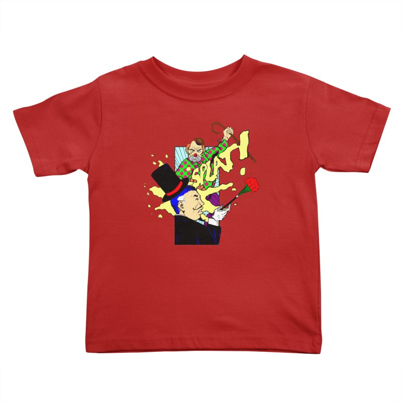 Hobo Clown v. Fancy Magician Kids Toddler T-Shirt by Make2wo Artist Shop