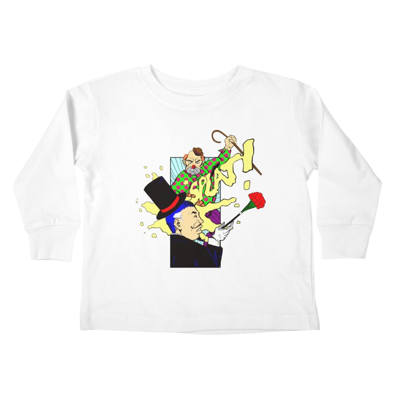 Hobo Clown v. Fancy Magician Kids Toddler Longsleeve T-Shirt by Make2wo Artist Shop