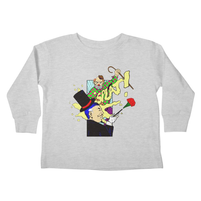 Hobo Clown v. Fancy Magician Kids Toddler Longsleeve T-Shirt by Make2wo Artist Shop