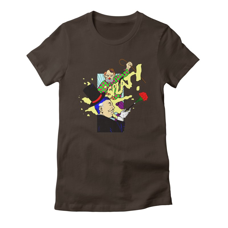 Hobo Clown v. Fancy Magician Women's Fitted T-Shirt by Make2wo Artist Shop