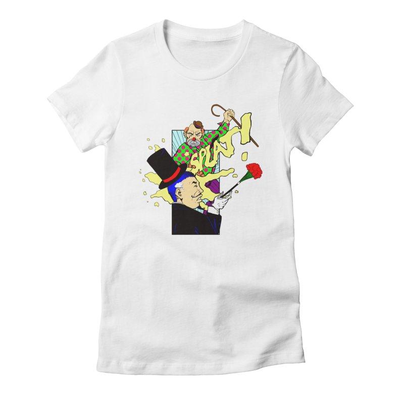 Hobo Clown v. Fancy Magician Women's Fitted T-Shirt by Make2wo Artist Shop