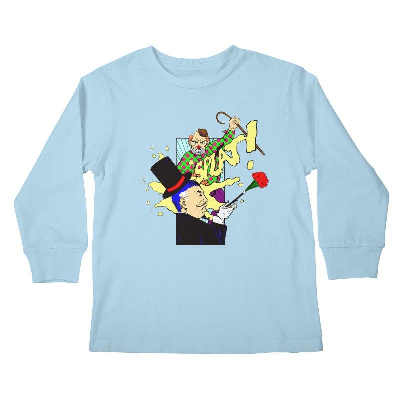 Hobo Clown v. Fancy Magician Kids Longsleeve T-Shirt by Make2wo Artist Shop