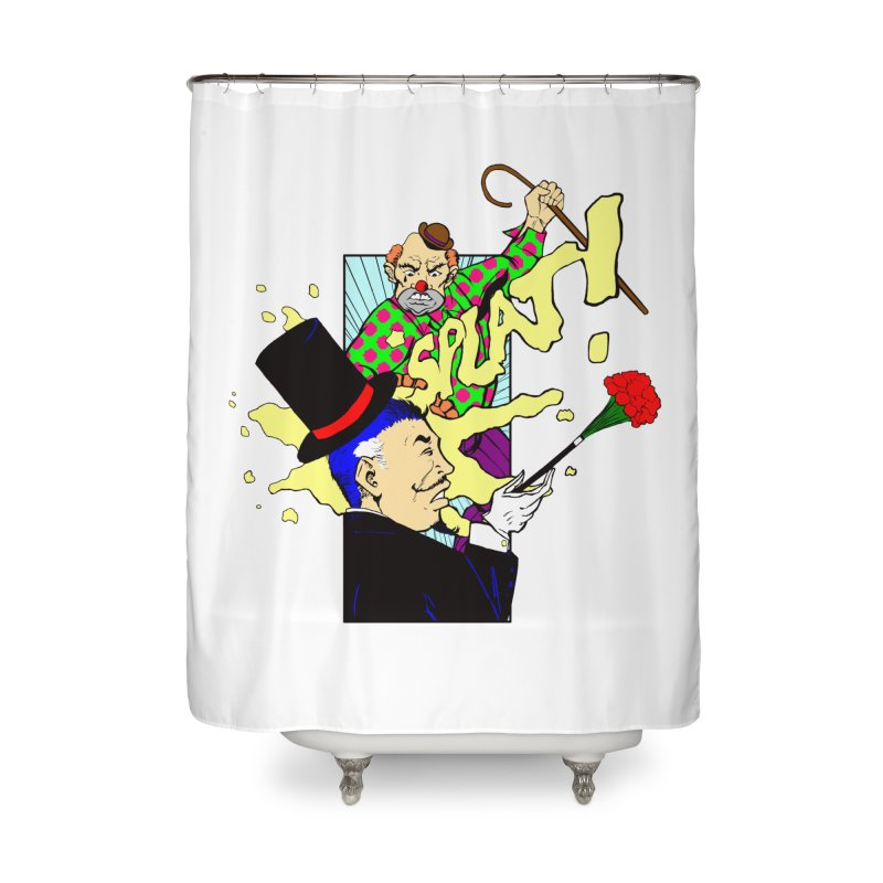 Hobo Clown v. Fancy Magician Home Shower Curtain by Make2wo Artist Shop