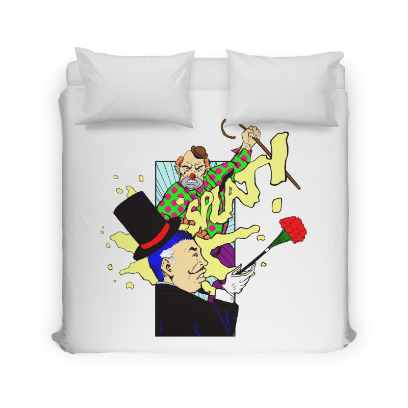 Hobo Clown v. Fancy Magician Home Duvet by Make2wo Artist Shop