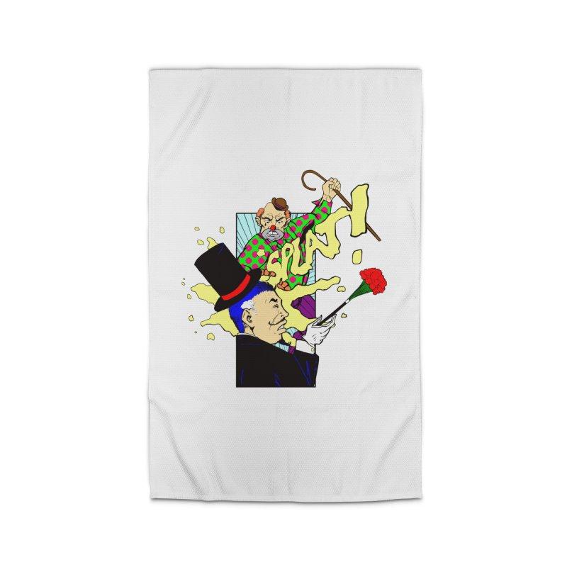 Hobo Clown v. Fancy Magician Home Rug by Make2wo Artist Shop