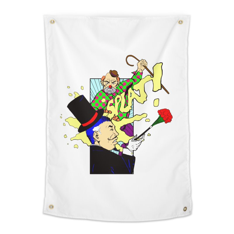 Hobo Clown v. Fancy Magician Home Tapestry by Make2wo Artist Shop