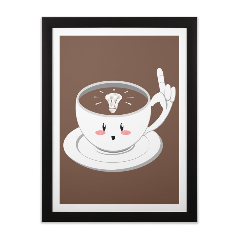 Cup of Inspiration! Home Framed Fine Art Print by Make2wo Artist Shop