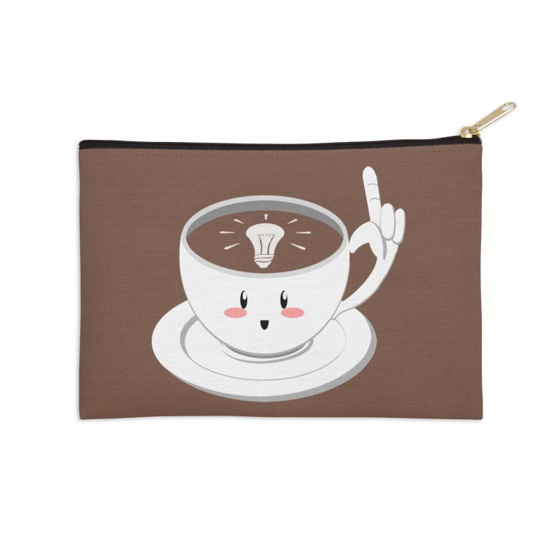 Cup of Inspiration! Accessories Zip Pouch by Make2wo Artist Shop