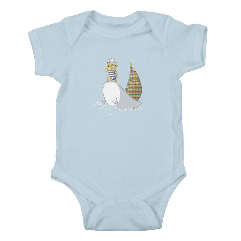 Dream of the Open Seas Kids Baby Bodysuit by Make2wo Artist Shop