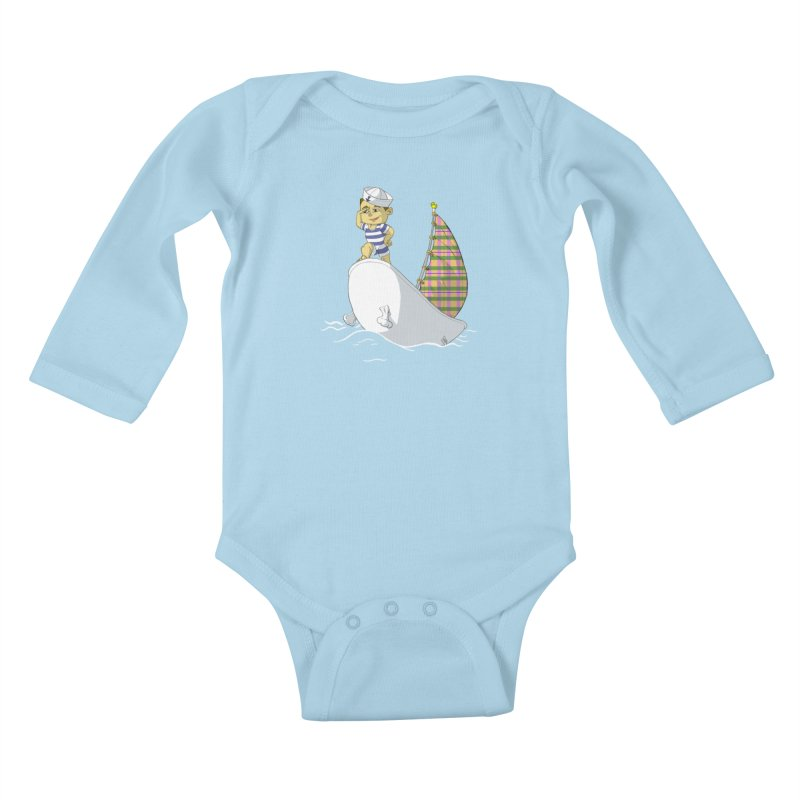 Dream of the Open Seas Kids Baby Longsleeve Bodysuit by Make2wo Artist Shop