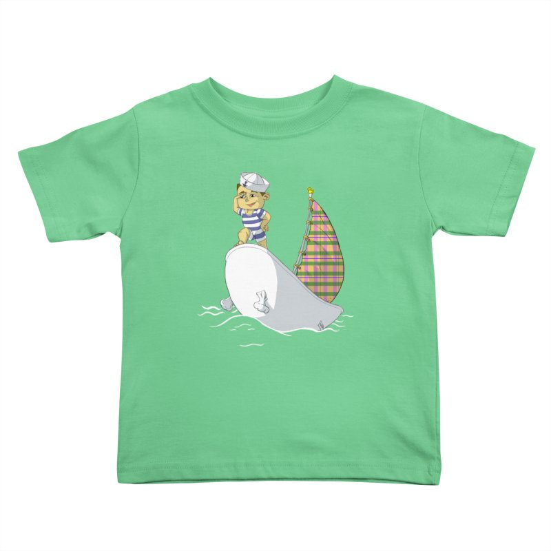Dream of the Open Seas Kids Toddler T-Shirt by Make2wo Artist Shop