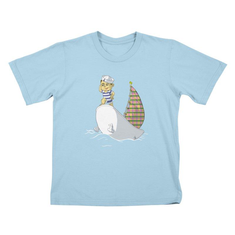 Dream of the Open Seas Kids T-Shirt by Make2wo Artist Shop