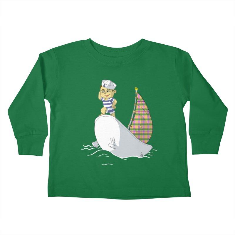 Dream of the Open Seas Kids Toddler Longsleeve T-Shirt by Make2wo Artist Shop