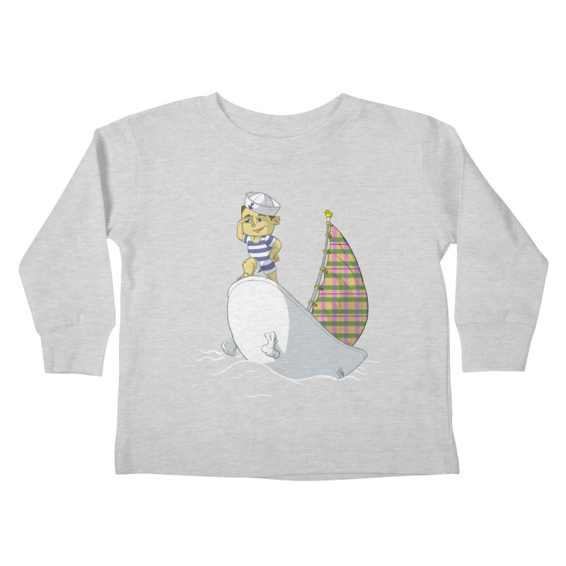 Dream of the Open Seas Kids Toddler Longsleeve T-Shirt by Make2wo Artist Shop