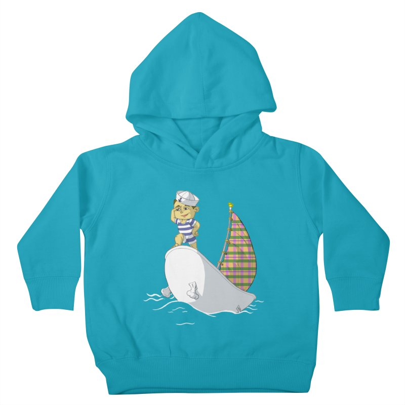 Dream of the Open Seas Kids Toddler Pullover Hoody by Make2wo Artist Shop